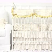 White Ruffle Crib Bedding Going All Gold Our Gold Dot Sparkle Baby Bedding Is For A
