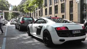 Audi R8 White And Black - capristo audi r8 v10 loud sound revs acceleration and more youtube