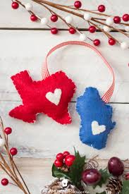 diy home state felt ornament the american patriette