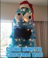 Cookie Monster Meme - cookie monster christmas tree meme