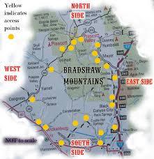 Prescott Arizona Map by The Bradshaw Mountains