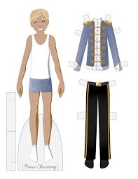 prince charming paper doll fairy tale fashion friday prince charming