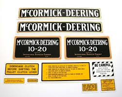 mylar decal set mccormick deering 10 20 decals and emblems