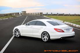bagged mercedes cls wheels stance wheels
