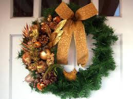 copper glitz christmas wreath hgtv