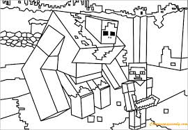 coloring minecraft coloring free coloring pages