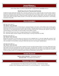 Resume Examples Teacher by Free Phys Ed Teacher Resume Example