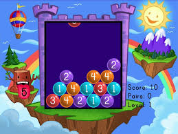 addition bubble buster to 10 game game education com