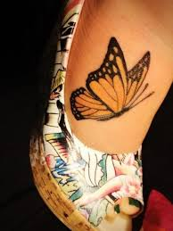 collection of 25 charming butterfly on back shoulder