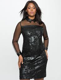 floral faux leather and mesh dress women u0027s plus size dresses