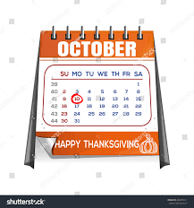 thanksgiving calendar canada page quarterly calendar stock vector