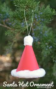 paper santa hat ornament the resourceful