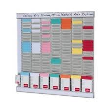 wall mounted organiser office planning kit clocking in out card