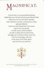 faith in a bottle prayer for pope francis