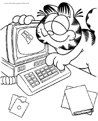 garfield color coloring pages kids cartoon characters