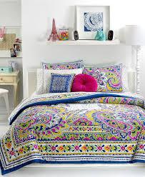 Bedroom Sets Macy S Teen Vogue Bedding Pret A Paisley Comforter Sets Teen Bedding