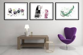 Home Decoration Art Set Of 3 Spirited Away Poster Chihiro And No Face Sprites
