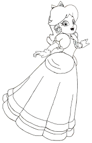 mario princess daisy coloring page within coloring pages