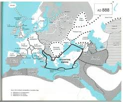 Map Of Medieval Europe Political Division Of Europe And Middle East From Colin Mcevedy U0027s