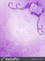 lavender roses lavender roses wedding invitation illustration