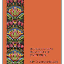 pattern art pdf bead loom folk art flowers motif 1 from mytreasureisland on etsy