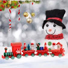 creative wooden xmas train santa claus christmas festival ornament