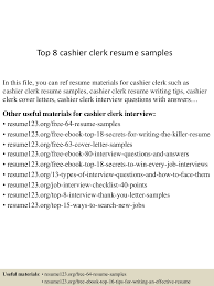 Sample Resume For Cashier Retail Stores by Clerk Cashier Resume Resume For Your Job Application
