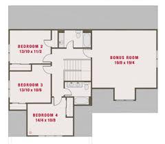 upper floor plan plan 461 39 2265 sq ft 4 beds 3 50 baths 50 ft