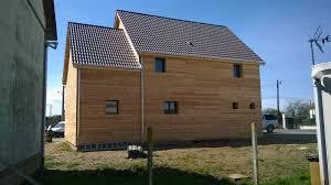 bureau ossature bois maison et bureaux ossature et bardage bois de 160m2 proche evreux 27