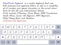 schoolfonts keyboard lowercase and uppercase app for ios