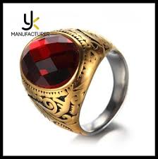 style s stainless steel ruby gold ring name designs buy