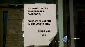 oklahoma city restaurant u0027s transgender bathroom sign causing