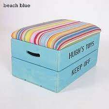 childs wooden toy box seat ottoman personalised on etsy