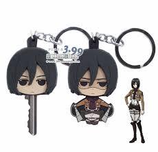 attack on titan u2013 mikasa key head holder keychain for sale