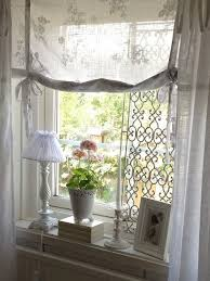 Shabby Chic Curtains Cottage I The Rolled Window Covering Light And Airy