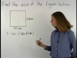 area of a square mathhelp com math help youtube