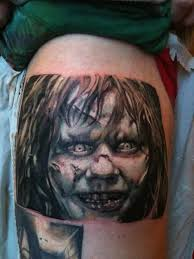 horror zombie face tattoo design by guy tinsley