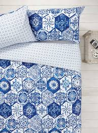 Bhs Duvets Sale Blue White Mosaic Tile Bedding Bhs 19 99 Home Is Where The