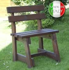 panchina in legno da esterno panchina in di legno 1 posto con schienale panca da giardino