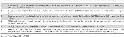 on the role of aggregation prone regions in protein evolution