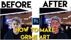 Cara Bikin Meme - photoshop tutorial cara membuat grime art zombie face 99