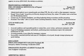 Firefighter Resume Examples by Fire Resume Example Reentrycorps
