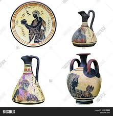 Aphrodite Vase Set Three Ancient Greek Vases Dish Image U0026 Photo Bigstock