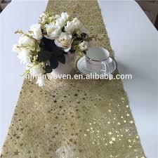 gold star table runner wedding car decoration materials wedding car decoration materials