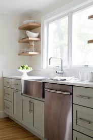 Green Kitchen Sink by Sage Green Kitchen Cabinets Transitional Kitchen