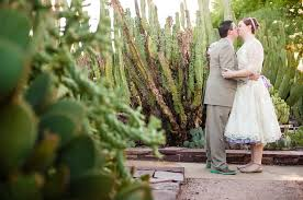 Scottsdale Botanical Gardens And Paul Intimate Desert Botanical Garden Wedding