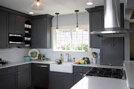 tag for small u shaped kitchen renovations white cabinets black