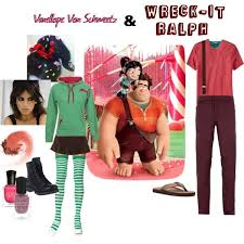 vanellope schweetz costume couples costume wreck it ralph and vanellope schweetz by