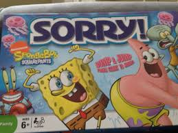 sorry sponge bob square pants board game parker brothers