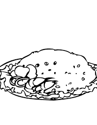 fried rice coloring page handipoints